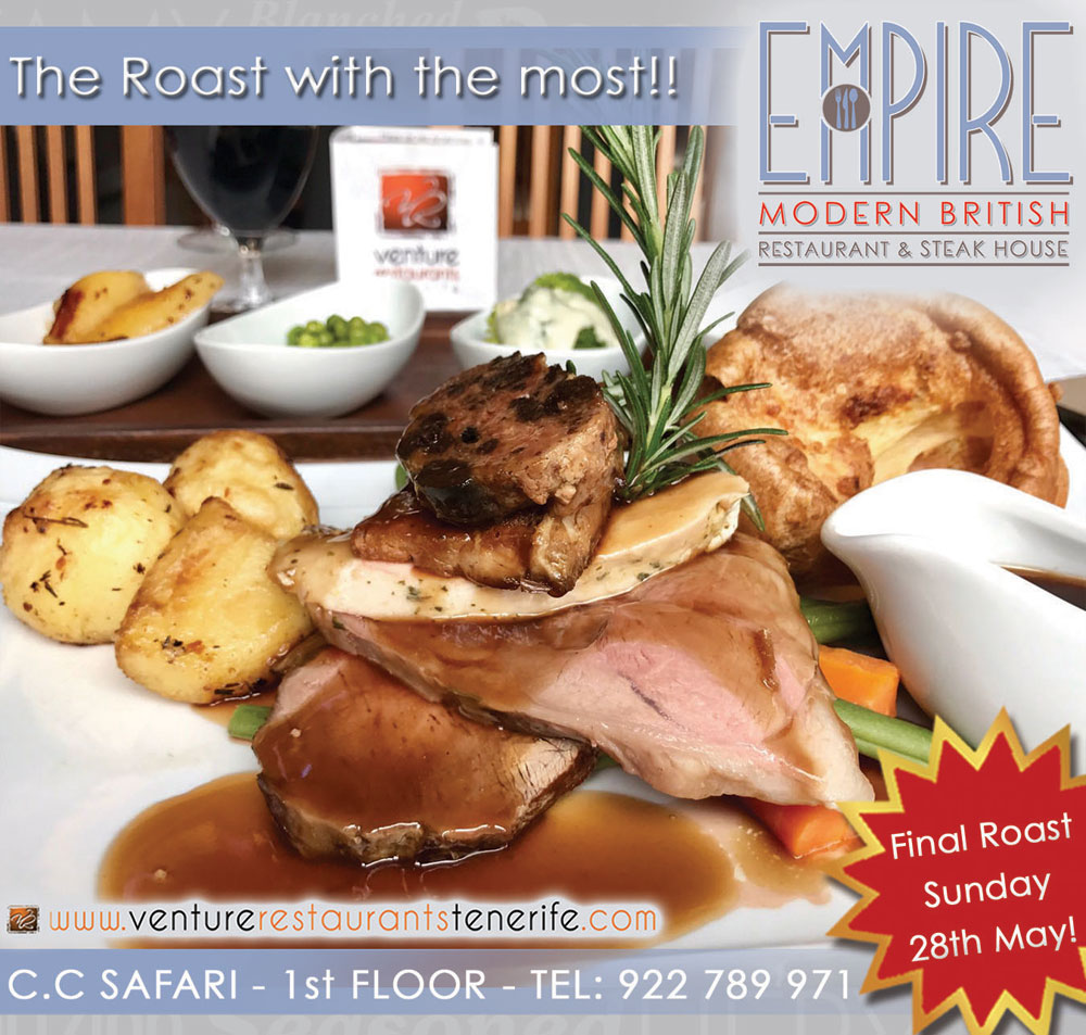 The last Empire Sunday Roast for the summer!!